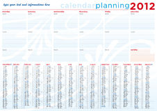 Calendar and Planning 2012 in english. Calendar and daily Planning 2012 in english - A3 size Stock Photo