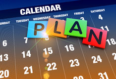 Calendar planning concept. Planning calendar as a concept Royalty Free Stock Photography