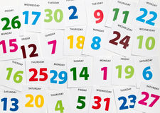 Calendar planning dates Stock Photo