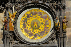 The Calendar plate below the astronomical clock. The Calendar plate below the Prague  astronomical clock Royalty Free Stock Photography