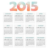 Calendar 2015 with polygon headline,  illustration Royalty Free Stock Images