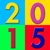 Calendar 2015 pop art style Royalty Free Stock Photos