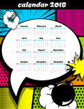 2018 calendar pop art template royalty free stock photography
