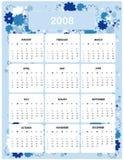 Calendar por o ano 2008 Imagem de Stock