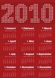 Calendar por o ano 2010 Fotografia de Stock Royalty Free