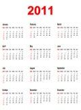 Calendar por o ano 2011. Fotografia de Stock Royalty Free