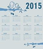 Calendar por o ano 2015 Foto de Stock