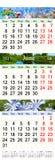 Calendar por três meses 2017 com imagens da natureza Imagem de Stock
