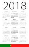 Calendar 2018 - Portuguese Version Stock Photography