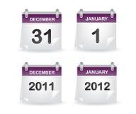 Calendar purple Stock Photography