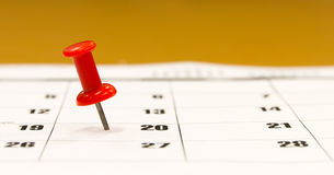 Calendar push pin Royalty Free Stock Photo