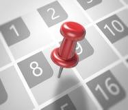 Calendar and pushpin Royalty Free Stock Photos
