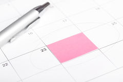 Calendar reminder. Royalty Free Stock Images