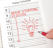 Calendar reminder brains storming Royalty Free Stock Photography