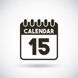 Calendar reminder with day 15. Vector illustration design Stock Photos