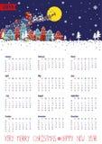 Calendar 2016.Santa coming to the city.Vertical Stock Photography