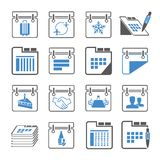 Calendar and schedule icons Stock Image