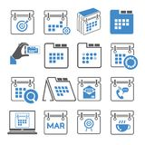 Calendar and schedule icons Royalty Free Stock Image