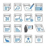 Calendar and schedule icons Stock Photos