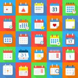 Calendar schedule planning icons set, flat style. Calendar schedule planning icons set. Flat illustration of 25 calendar schedule planning vector icons for web Royalty Free Stock Images