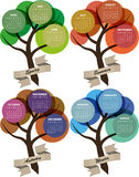 2014 calendar season. Illustration of 2014 colorful season calendar with ribbon Stock Illustration