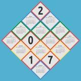 Calendar 2017, by seasons vector illustration