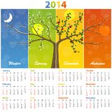 Calendar for 2014 seasons. Illustration art 10eps Vector Illustration