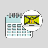 Calendar security internet technology. Vector illustration eps 10 Royalty Free Stock Photography
