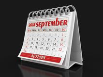 Calendar -  September 2018 Stock Image