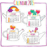 Calendar 2015-September, October, November, December. Vector file. It can be scaled to any sizes without losing resolution Royalty Free Stock Photo