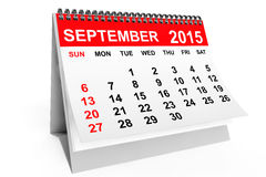 Calendar September 2015. 2015 year calendar. September calendar on a white background Stock Images
