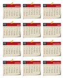 Calendar series for 2011. Calendar for 2011 on a white background. Starts sunday Royalty Free Stock Image