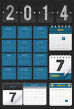 Calendar Set. All designs are made with editable vector layers. You can easily edit design, colors or go any size royalty free illustration
