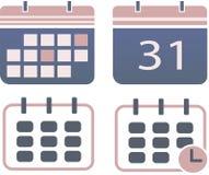 Calendar set vector illustration