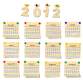 Calendar on set note 2012 Royalty Free Stock Image