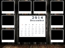 Calendar 2014 set with photo frame Royalty Free Stock Images