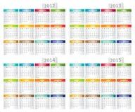 calendar seten Fotografering för Bildbyråer