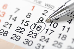 Calendar-Setting a date Royalty Free Stock Images