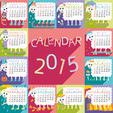 Calendar 2015 sheep. The vector illustration in EPS format can be scaled to any size without loss of quality Royalty Free Stock Images