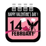 Calendar sheet for fourteen February Royalty Free Stock Photo