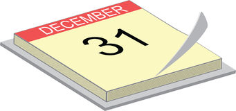 Calendar showing the 31. Illustration of a calendar showing the 31 of december Royalty Free Stock Image