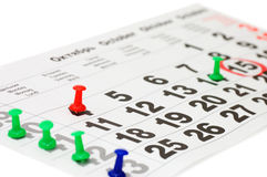 Calendar showing date of today Royalty Free Stock Photography