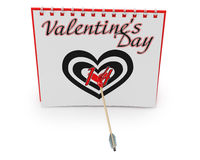 Calendar Showing Valentine's Day Stock Images