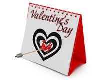 Calendar Showing Valentine's Day Stock Photos