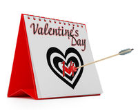 Calendar Showing Valentine's Day Royalty Free Stock Photos