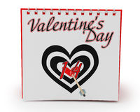 Calendar Showing Valentine's Day Royalty Free Stock Photo