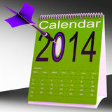 2014 Calendar Shows Future Target Plan. 2014 Calendar Showing Future Target Business Plan Vector Illustration