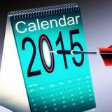 2015 Calendar Shows Future Target Plan. 2015 Calendar Showing Future Target Business Plan Stock Photography