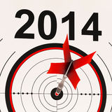 2014 Calendar Shows Planning Annual Projection. 2014 Calendar Showing Planning Annual Projection Budget Stock Illustration