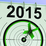 2015 Calendar Shows Planning Annual Projection Stock Images